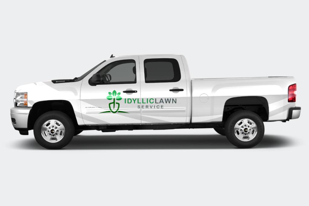 Idyllic Lawn Care by Fourth Dimension Logo