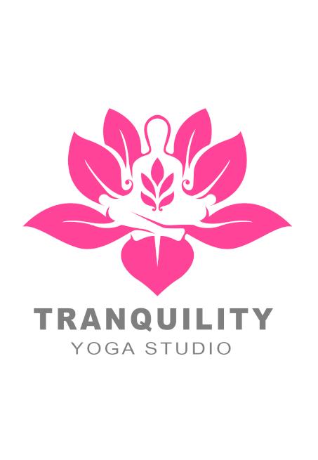 Tranquility Yoga Studio Logo Design by Fourth Dimension Logo